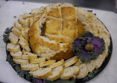 Spinach Or Artichoke Bread Bowl Platter