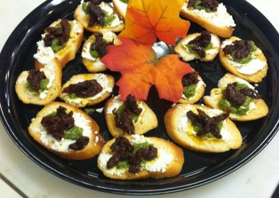 Goat Cheese Crostini Platter