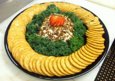 Gourmet Cheese Ball & Cracker Platter