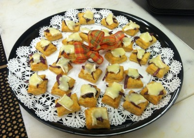 Brie & Fig Puff Pastry Bites Platter